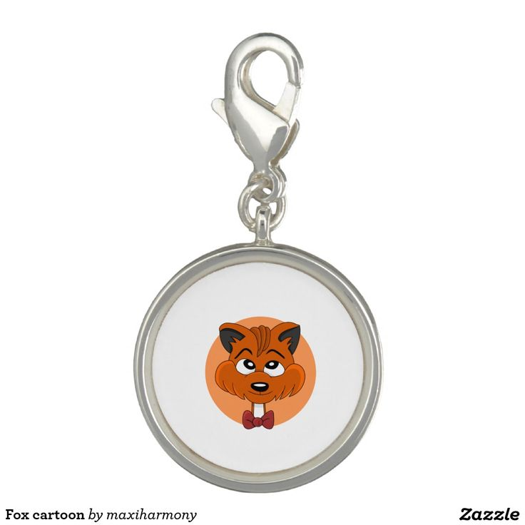 Fox cartoon charm