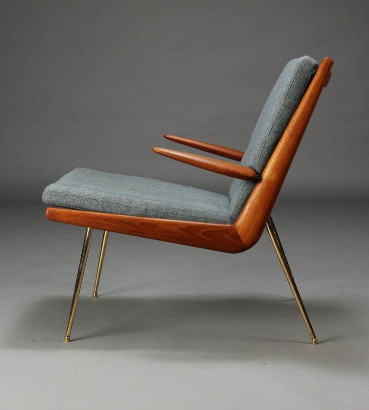 Peter hvidt orla m lgaard nielsen boomerang chair for Mobilia anos 60
