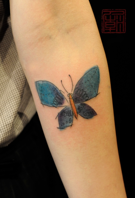 Jamie Kam - if I was ever going to get a butterfly tatt, this would be it!
