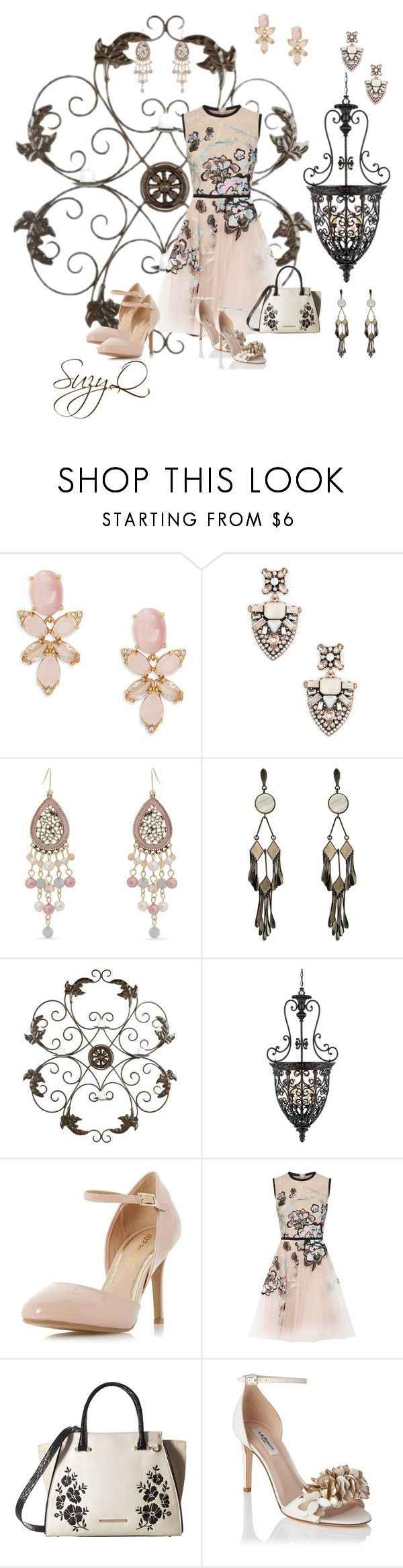 """""""Summer Party Dress"""" by polyvore-suzyq ❤ liked on Polyvore featuring Kate Spade, Sole Society, Erica Lyons, Etro, Safavieh, Franklin Iron Works, Dorothy Perkins, Elie Saab, Brahmin and L.K.Bennett"""
