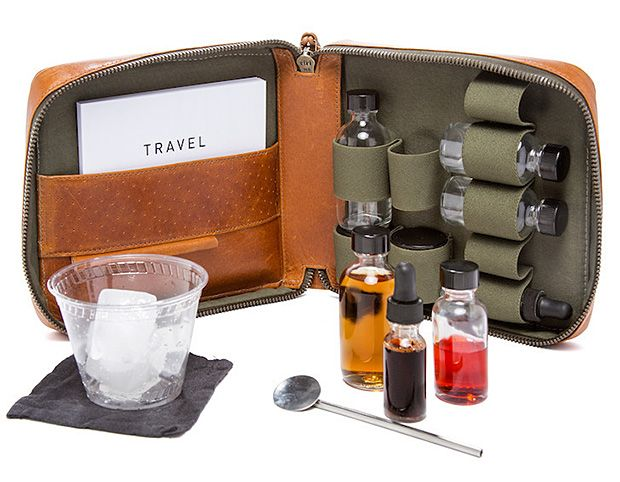 A nice addition for those trips where refreshments may be required! Stephen Kenn Travel Cocktail Kit #sikuglaciericevodka #luxury #travel