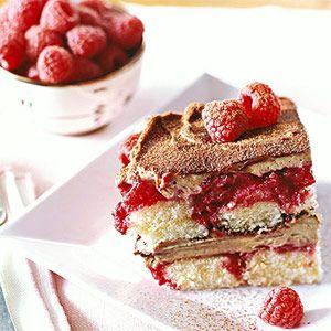 Raspberry Tiramisu: Raspberries bring a refreshing flavor and new twist to this Italian classic dessert recipe.