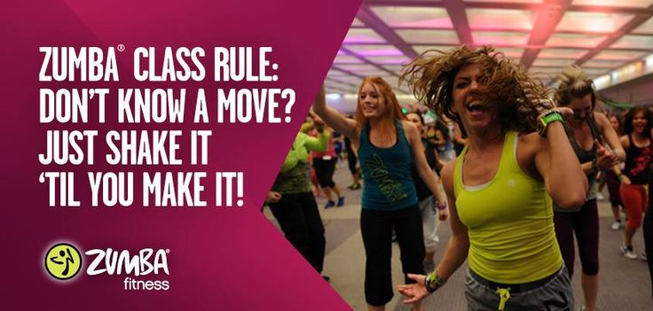 """Zumba Quote for the Day - """"There are no mistakes in Zumba - only solos!"""""""