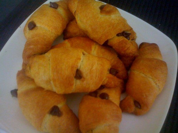 Chocolate Chip Croissants... super simple to make :)