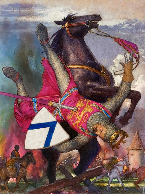 William the Conqueror's Fatal Fall by John Millar Watt