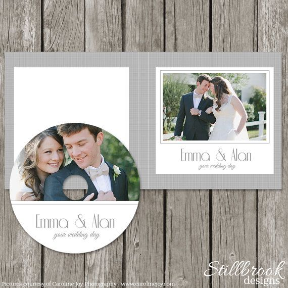 CD Label Template - Wedding DVD Case - CD Sleeve Cover
