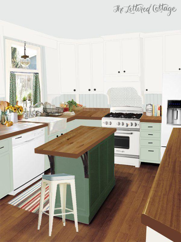 Kitchen Makeover Inspiration for Laura The Lettered Cottage For - inspirationen küchen im landhausstil