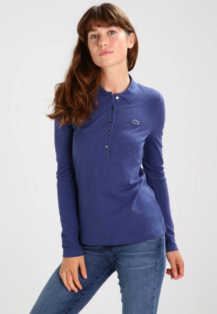 """Lacoste. Polo shirt - ancre chine. Fit:small. Outer fabric material:94% cotton, 6% spandex. Our model's height:Our model is 69.0 """" tall and is wearing size 8. Pattern:plain. Care instructions:do not tumble dry,machine wash at 30°C. ..."""