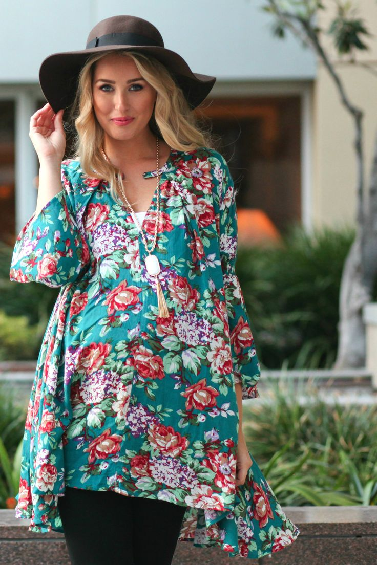 17 best images about beautiful maternity outfits on pinterest jade floral bell sleeve maternity tunic ombrellifo Images