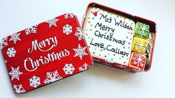 Personalised Christmas Card Cookie / by SugarSprinkleCookies