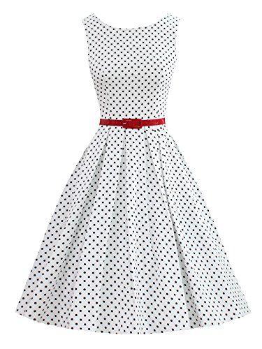 LUOUSE Robes Vintage 1950 s Audrey Hepburn robe de soirée cocktail bal  style années 50 Rockabilly Swing 4cd47ce418ff
