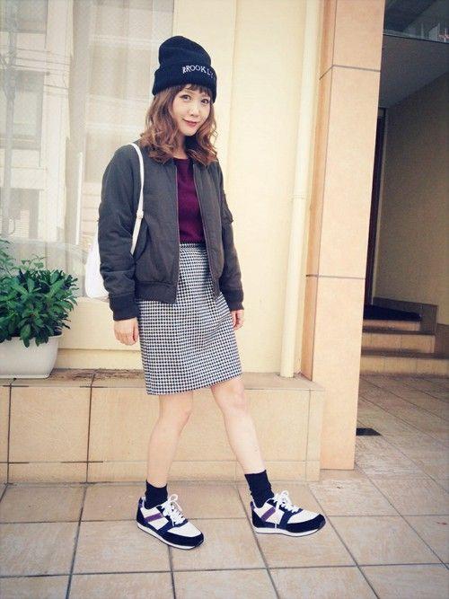 まるちゃん♡ᵕ̈*⑅୨୧'s RECOMMEND Looks│田中里奈'sCartonnageBeanieLook-WEAR
