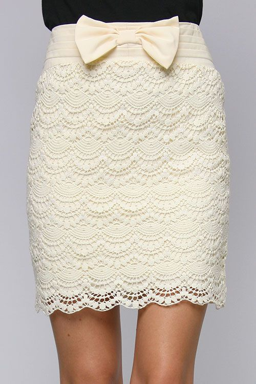 Obsessed with this lace pencil skirt