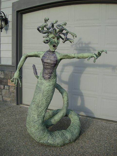 love her! Medusa... Paper mache??