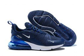 6190e05d8f57f High Quality Nike Air Max 270 Flyknit Midnight Navy Black White AH8050 400  Men s Running Shoes Sneakers