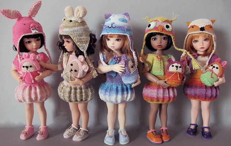 Knitted animal outfits - Iplehouse BJDs