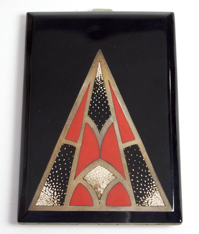 French Art Deco lacquer cigarette case, 1920's....: Art Deco Art, French Art, Art Nouveau, Deco Lacquer, Deco Design, Art Deco, Cigarette Cases, Lacquer Cigarette, Compacts Cases