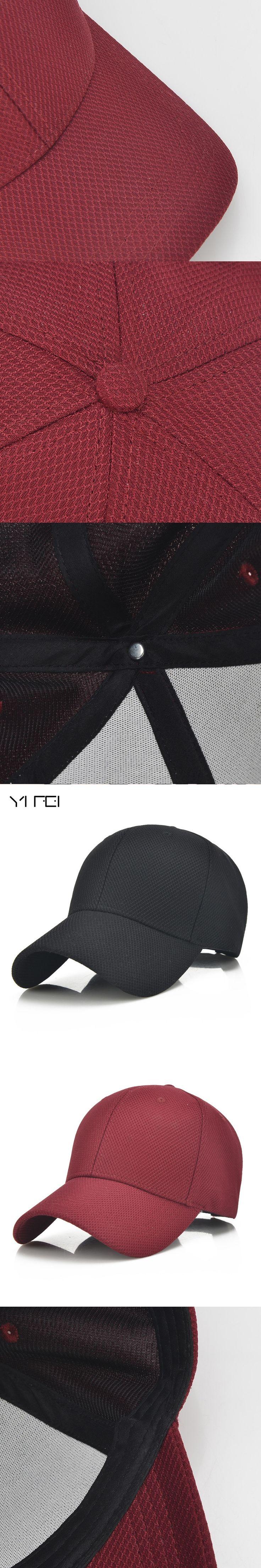 YIFEI 2017 Unisex Women Baseball Cap Men Cotton Breathable Mesh Cap  Bone Snapback Golf Hats Black Gorras Cap Summer Hat Outdoor