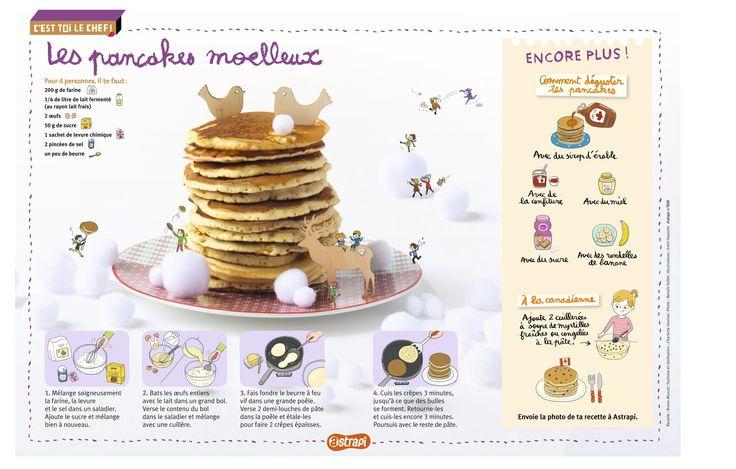 Les pancakes moelleux: une recette pour les enfants pour des gouters plein de douceur... Extrait du magazine Astrapi n°808, pour les enfants de 7 à 11 ans.