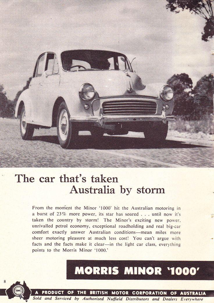 https://flic.kr/p/Kbrvrm   1959 Morris Minor 1000 BMC Aussie Original Magazine Advertisement