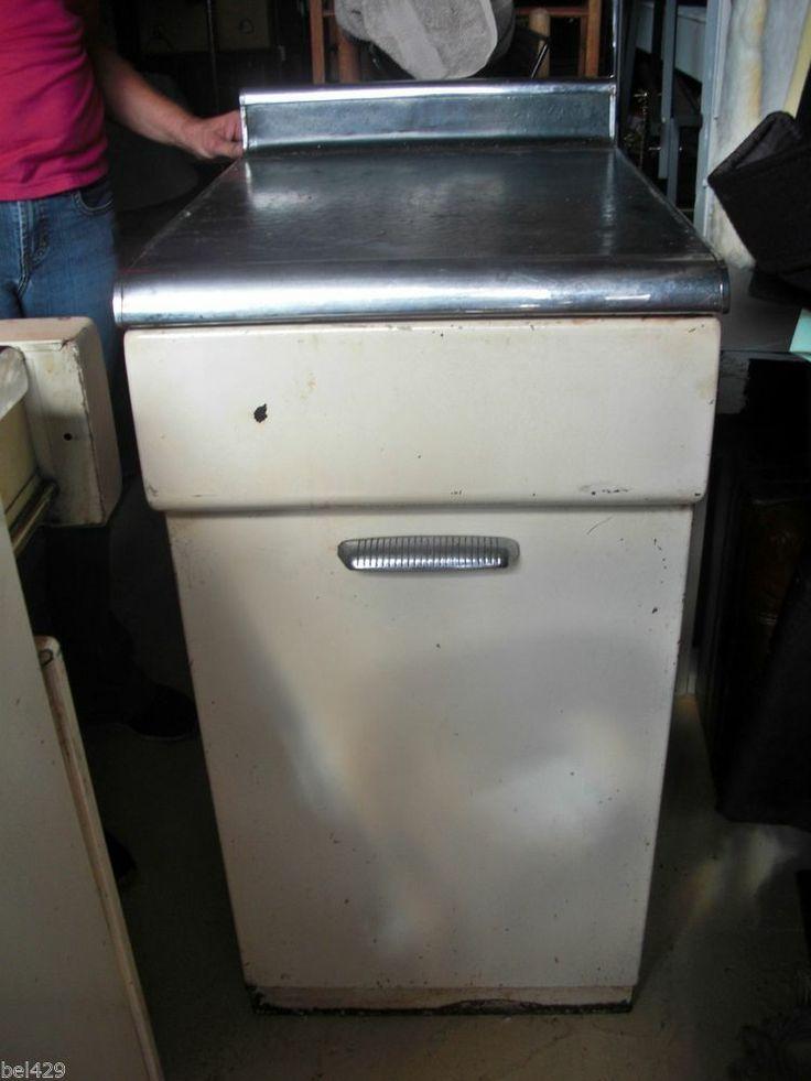 1459f422d1a4469fc48f08fe744e9001  metal kitchen cabinets vintage metal