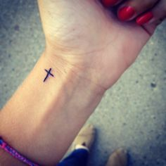 girl wrist tattoos designs cross - Google Search