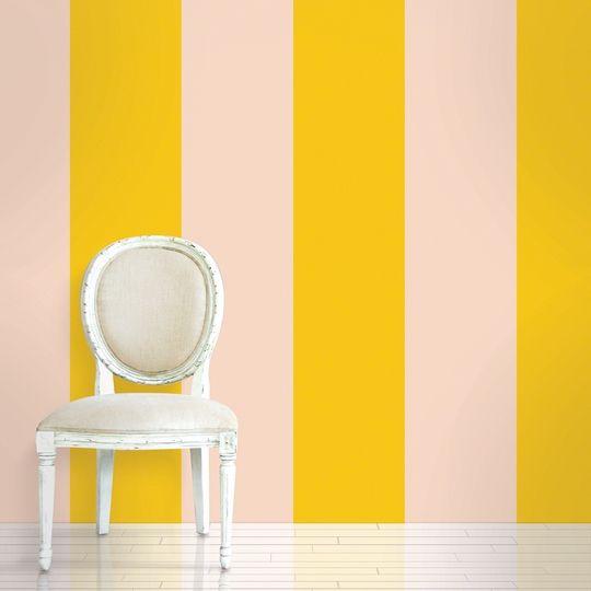 Stripe Sorbet Removable Wallpaper Half Kit Is Peel And