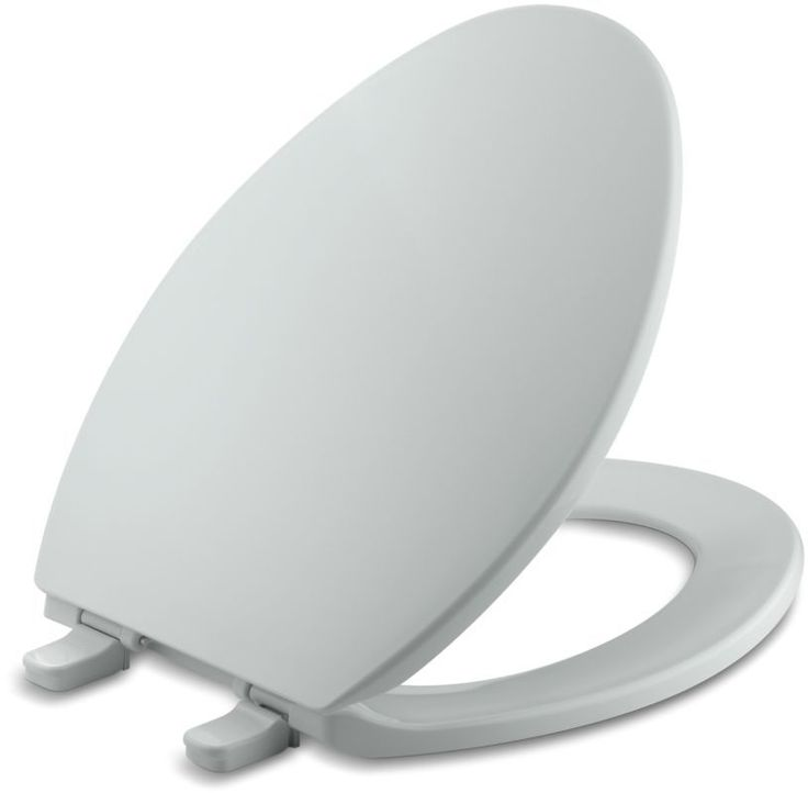 Kohler K-4774 Brevia Q2 Elongated Closed-Front Toilet Seat with Quick-Release an Ice Grey Accessory Toilet Seat Elongated