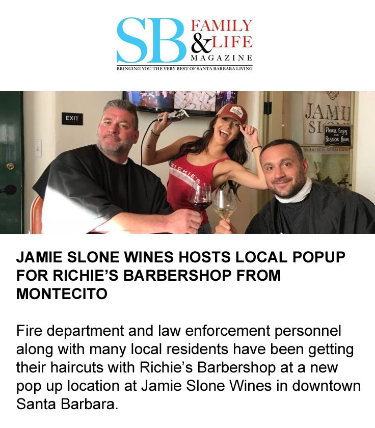 Fire department, law enforcement personnel & locals are getting their haircut Richie's pop up location. #MontecitoStrong #supportlocal #richiesbarbershopsb #santabarbarastrong #rediscoversb #visitsantabarbra #sbindy #shopsmall #barbershopconnect #montecito #montecitomudslide #sblove #santabarbara #montecitomudflow #downtownsb #downtownsantabarbara   #sbindy #sbnewspress #santabarbaranewspress #santabarbaranews #noozhawk #edhatsantabarbara #sbnews #wine #vino #vinolovers #santabarbarawine
