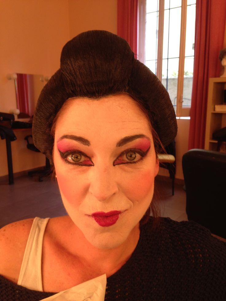 Maquillaje geisha