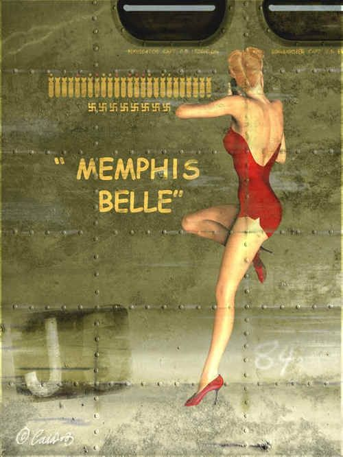 I love WW2 aircraft nose art.| Pinup Girl  http://thepinuppodcast.com features pinup models and pin up photographers.