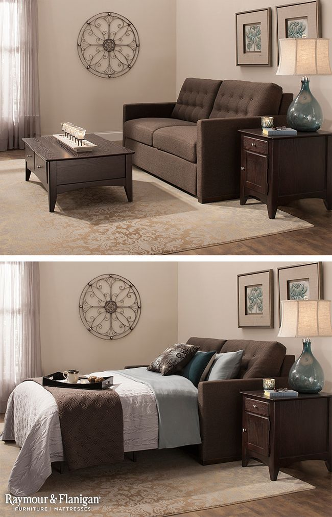 Transform your living area into a convenient guest room with this new Payton microfiber queen sleeper sofa. It's a perfect solution for apartments because it's a huge space saver!