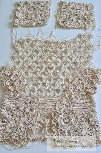 Outstanding Crochet: Progress with the Beige Cardigan and my charts.