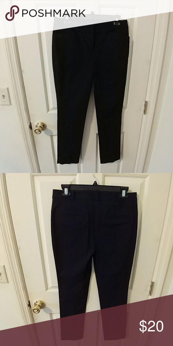 Black Ankle Length Slim Fit Dress Pants Black ankle length slim fit dress pants. Never been worn. Worthington Pants Ankle & Cropped