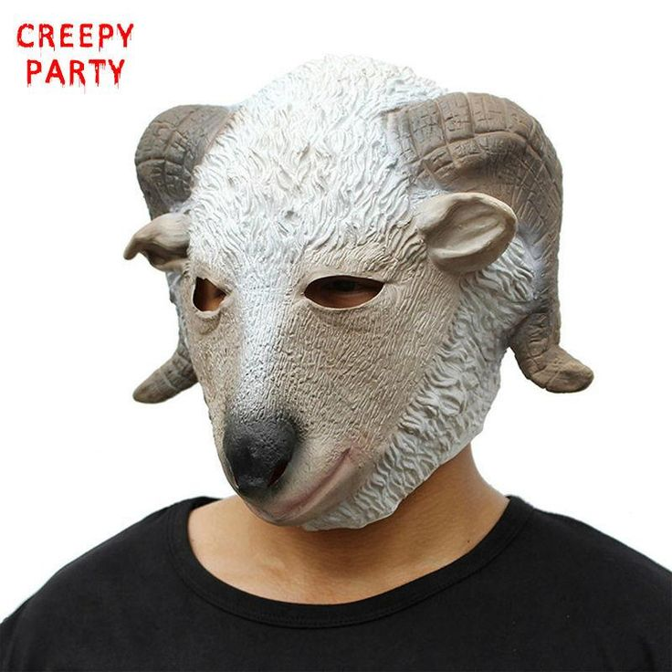 Halloween Costume Party Latex Animal Mask Novelty Adults Full Face Goat Head Party Mask Masquerade Masks Fancy Dress Party
