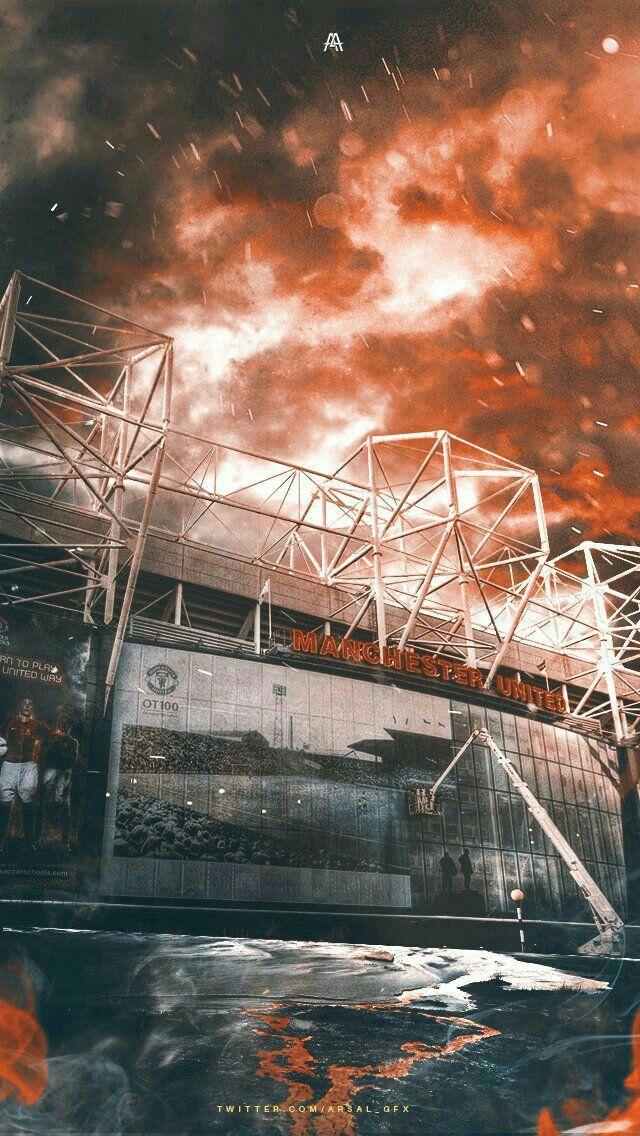 Old Trafford Football Pl Mu Oldtrafford Stadium Profoot Wallpaper Ponsel Pemain Sepak Bola Gambar