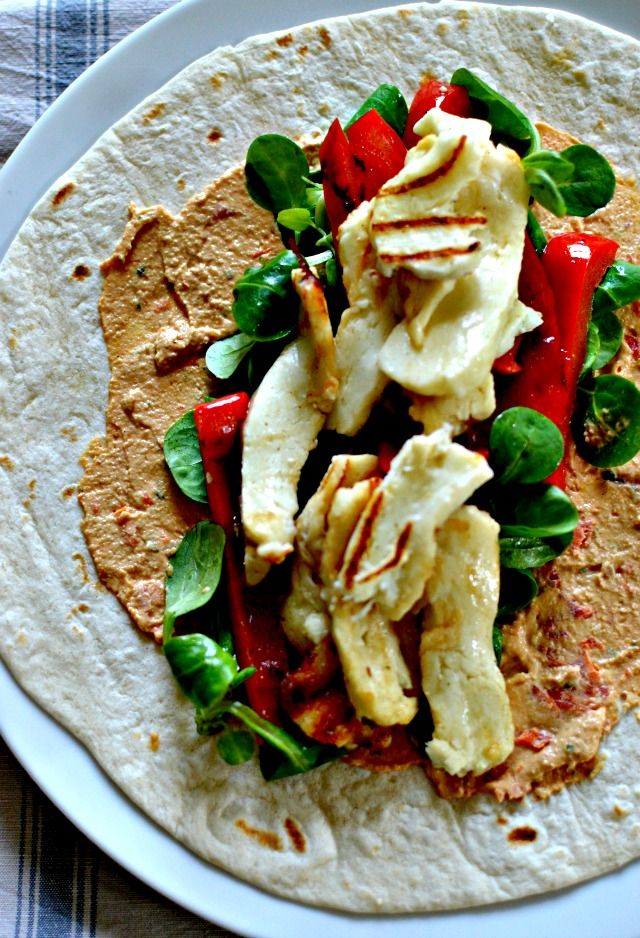 Halloumi, Chargrilled Pepper & Hummus Wrap