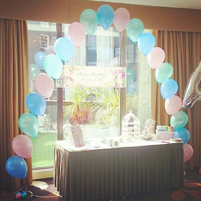 Pastel arch, perfect for framing any backdrop or table #balloons #arch #balloonarch #pastel #teaparty