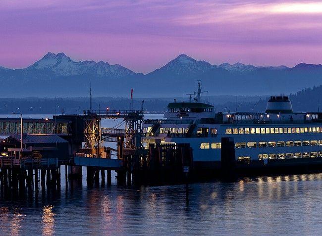 Edmonds, WA | Edmonds Waterfront - Washington Washington State Ferry goes to Kingston, WA about a 30 minute ride.