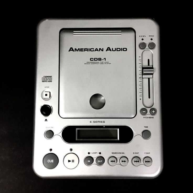 American Audio CDS-1 Single CD Player Toploader Discontinued #AmericanAudio