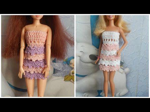 Одежда для кукол своими руками. Платье-цветок для Барби. Barbie doll dress - YouTube
