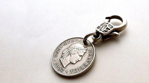 Switzerland Zipper charm Coin charm Purse charm Handbag