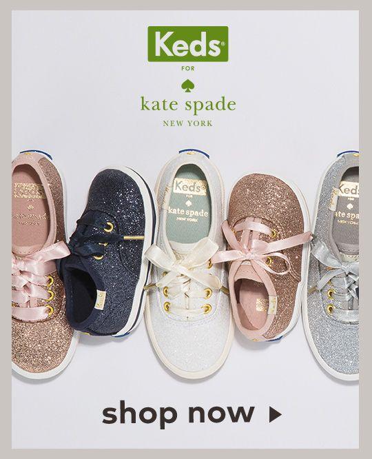 7af484b1b74b Little Kid s Keds KEDS X kate spade new york Champion Glitter Crib Sneaker  - Baby Shoes