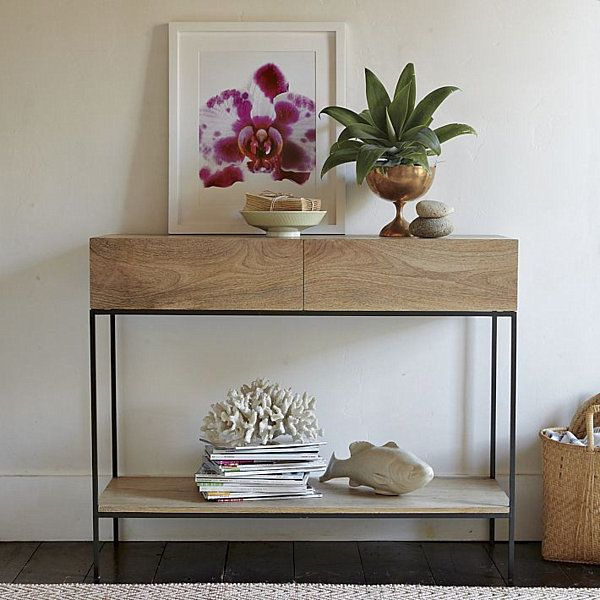 24 best images about console decor ideas on pinterest entry ways console table decor and tables - West elm bathroom storage ...