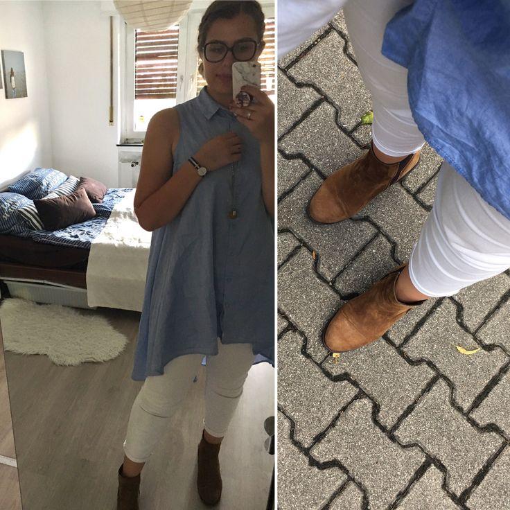 Nerdig unterwegs #nerd  Longbluse con Stradivarius Weiße Jeans von H&M  Stiefeletten von Sommerkind  Kette von Thomas Sabo mit Anhänger aus Bernstein Uhr von Daniel Wellington Brille von Marc Jacobs   So fühl ich mich wohl 👊🏻💋