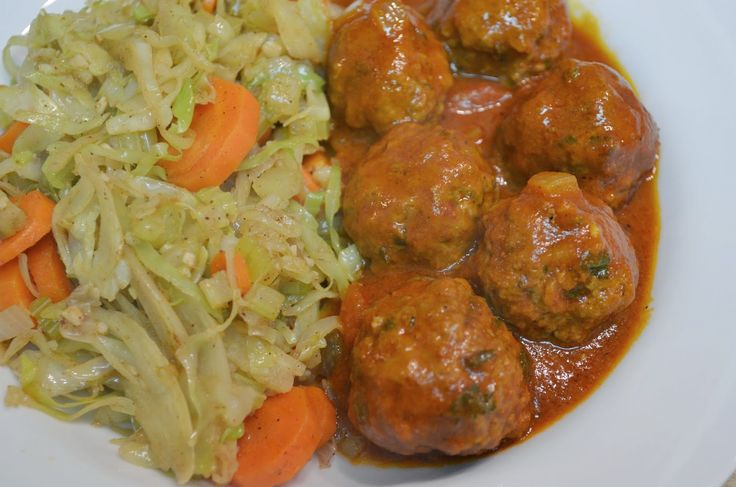 Beyond Toast: Whole30 (or not): Moroccan Meatballs with Sautéed Cabbage