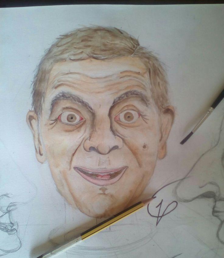 Mr. Bean aquerello #drawings#saturday