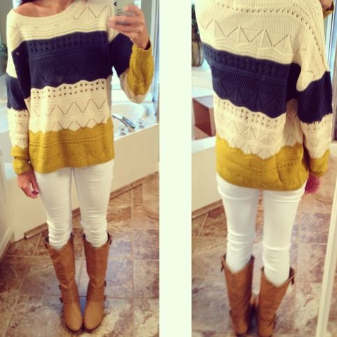 walker valley colors! Pull Over Knit in Mustard from Monica's Closet Essentials