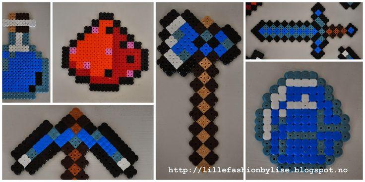 Minecraft hama perler lillefashion.by.lise