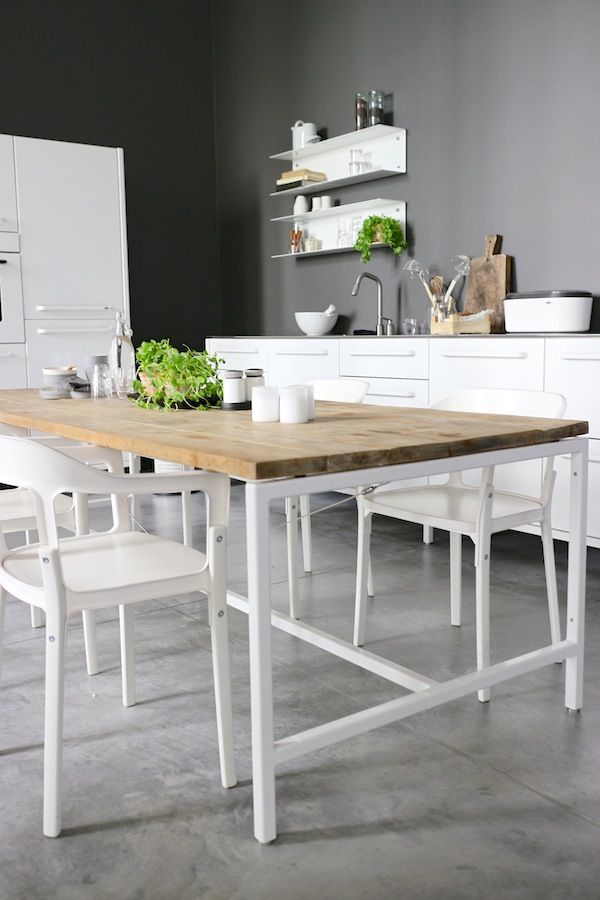 white dining table - DIY